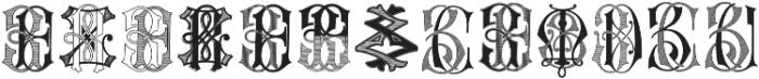 Intellecta Monograms Soft YOYZ ttf (400) Font UPPERCASE
