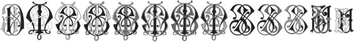 Intellecta Monograms Soft YOYZ ttf (400) Font LOWERCASE