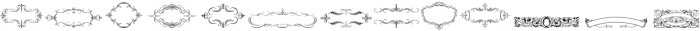 Intellecta Ribbons ttf (400) Font UPPERCASE