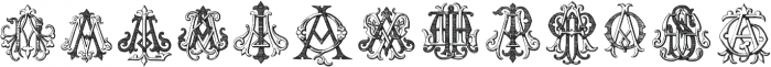 IntellectaMonograms AAAS Regular ttf (400) Font LOWERCASE