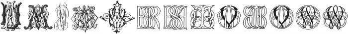 IntellectaMonograms AFVW-CCAA Regular ttf (400) Font UPPERCASE