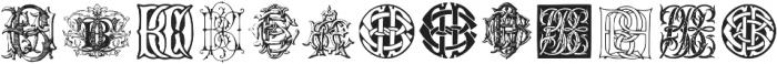 IntellectaMonograms AFVW-CCAA Regular ttf (400) Font LOWERCASE