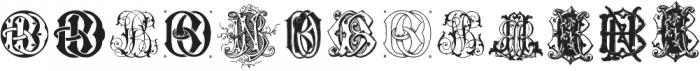 IntellectaMonograms BDBO NewSeries ttf (400) Font UPPERCASE