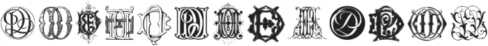 IntellectaMonograms DA DR NewSeries Regular ttf (400) Font UPPERCASE