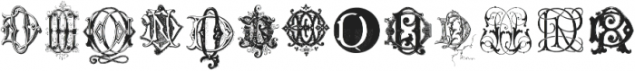 IntellectaMonograms DA DR NewSeries Regular ttf (400) Font LOWERCASE