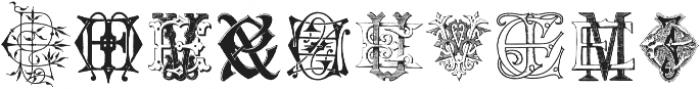 IntellectaMonograms ELEZ New Series ttf (400) Font OTHER CHARS