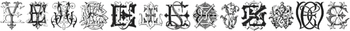 IntellectaMonograms ELEZ New Series ttf (400) Font UPPERCASE
