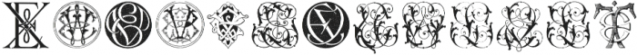 IntellectaMonograms ELEZ New Series ttf (400) Font LOWERCASE