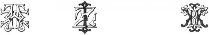 IntellectaMonograms IZKX Regular ttf (400) Font OTHER CHARS