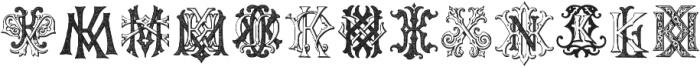 IntellectaMonograms IZKX Regular ttf (400) Font UPPERCASE