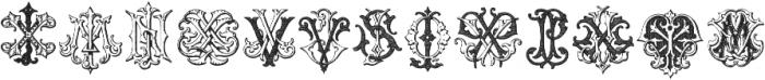 IntellectaMonograms IZKX Regular ttf (400) Font LOWERCASE