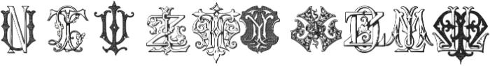 IntellectaMonograms KYOZ Regular ttf (400) Font OTHER CHARS