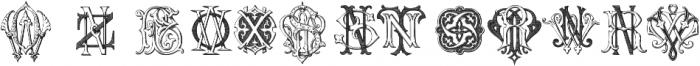 IntellectaMonograms KYOZ Regular ttf (400) Font UPPERCASE