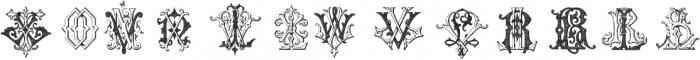 IntellectaMonograms KYOZ Regular ttf (400) Font LOWERCASE