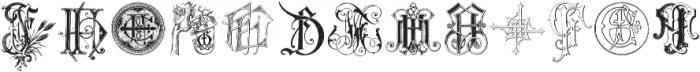 IntellectaMonograms New Series FAFZ ttf (400) Font UPPERCASE