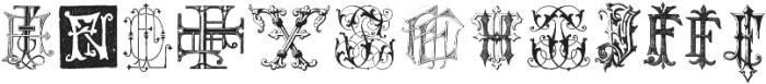 IntellectaMonograms New Series FAFZ ttf (400) Font LOWERCASE