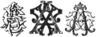 IntellectaMonograms Triple AAA-AYM Regular ttf (400) Font OTHER CHARS