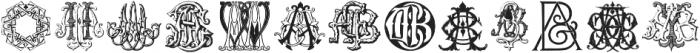 IntellectaMonograms Triple AAA-AYM Regular ttf (400) Font UPPERCASE