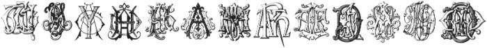 IntellectaMonograms Triple AAA-AYM Regular ttf (400) Font LOWERCASE