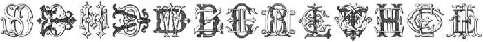 IntellectaMonogramsDQEM Regular ttf (400) Font LOWERCASE