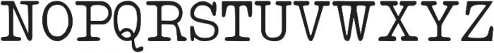 IntellectaTypewriter Regular ttf (400) Font UPPERCASE