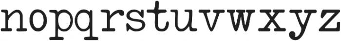 IntellectaTypewriter Regular ttf (400) Font LOWERCASE