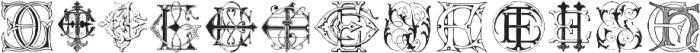 Intellectamonograms NewSeries EBEU ttf (400) Font UPPERCASE