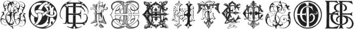 Intellectamonograms NewSeries EBEU ttf (400) Font LOWERCASE
