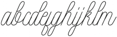 Intelligent Line otf (400) Font LOWERCASE