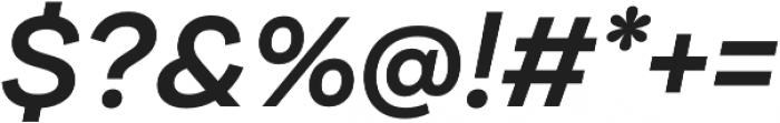 Internacional Alt SemiBold It otf (600) Font OTHER CHARS