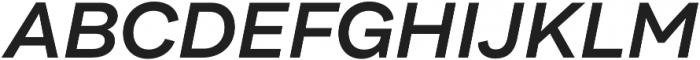 Internacional SemiBold It otf (600) Font UPPERCASE