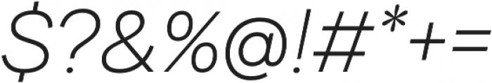 Internacional Thin It otf (100) Font OTHER CHARS