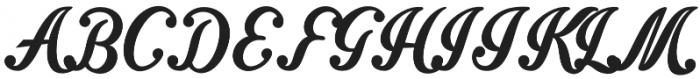 Intrique Script otf (400) Font UPPERCASE