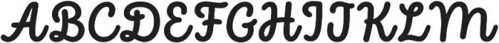 Intro Script Bold otf (700) Font UPPERCASE