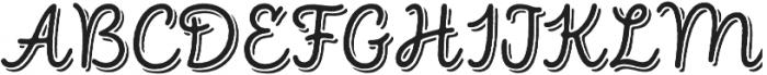 Intro Script R Base Shade otf (400) Font UPPERCASE