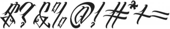 InuTattoo Script otf (400) Font OTHER CHARS