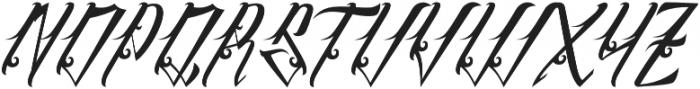 InuTattoo Script otf (400) Font UPPERCASE