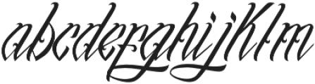 InuTattoo Script otf (400) Font LOWERCASE