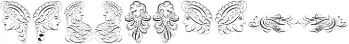 Invitation Script Ornaments ttf (400) Font OTHER CHARS