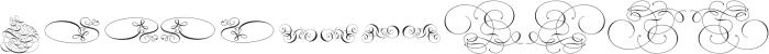 Invitation Script Ornaments ttf (400) Font UPPERCASE