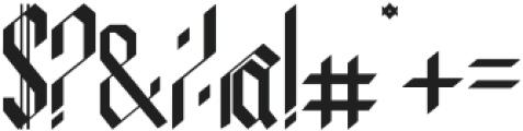 indigo otf (400) Font OTHER CHARS