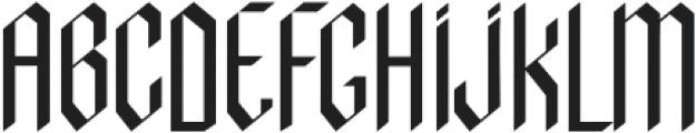 indigo otf (400) Font UPPERCASE