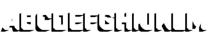 Industry Inc 3D Shadow Font LOWERCASE