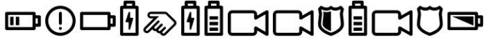 InfoBits Symbols Font OTHER CHARS