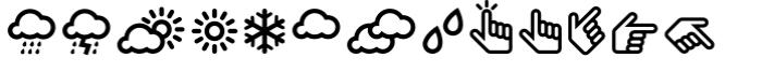 InfoBits Symbols Font LOWERCASE