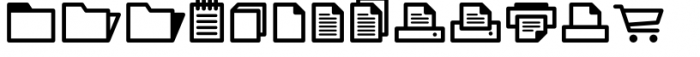 InfoBits Things Font LOWERCASE