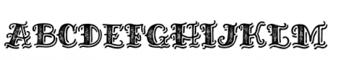 Inkheart Sailor Shadow Printed Font UPPERCASE