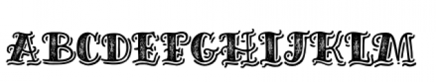 Inkheart Sailor Shadow Printed Font LOWERCASE