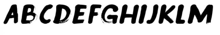 Inky Fingers Italic Font UPPERCASE