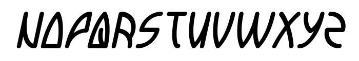 INTERPLANETARY Italic Font UPPERCASE